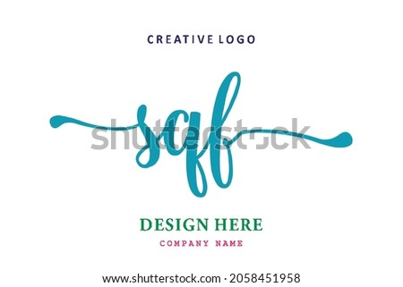 SQF lettering logo is simple, easy to understand and authoritative