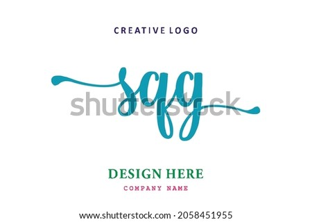 SQG lettering logo is simple, easy to understand and authoritative