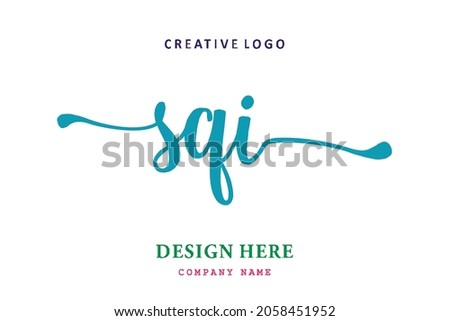 SQI lettering logo is simple, easy to understand and authoritative