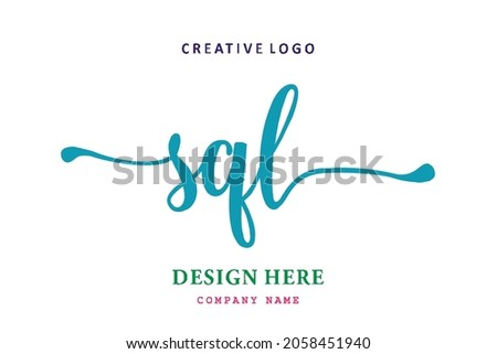 SQL lettering logo is simple, easy to understand and authoritative