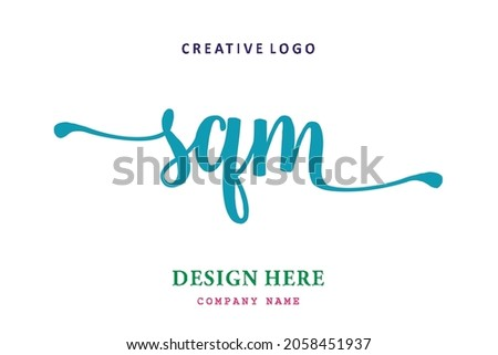SQM lettering logo is simple, easy to understand and authoritative
