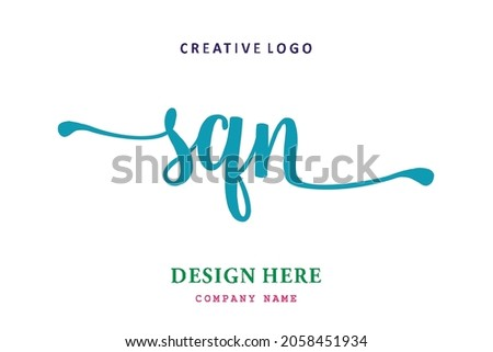 SQN lettering logo is simple, easy to understand and authoritative
