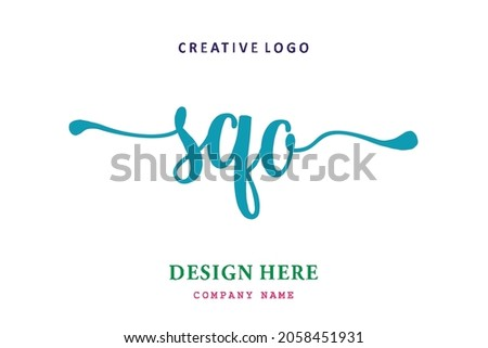 SQO lettering logo is simple, easy to understand and authoritative