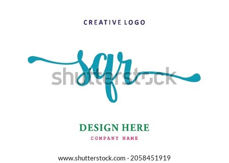SQR lettering logo is simple, easy to understand and authoritative
