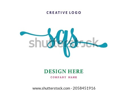 SQS lettering logo is simple, easy to understand and authoritative