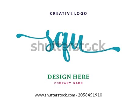 SQU lettering logo is simple, easy to understand and authoritative