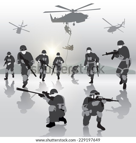 squad of soldiers during the