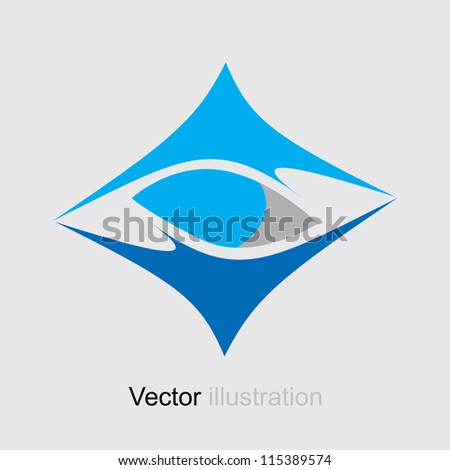 Square Abstract Blue logo. Icon Business Collection.