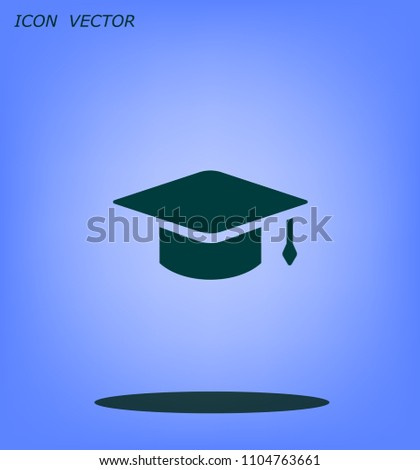 Square academic hat with a brush