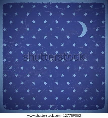 square aged card with polka dot