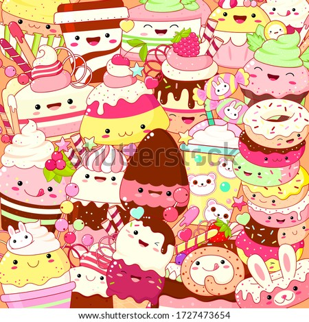 square background with cute