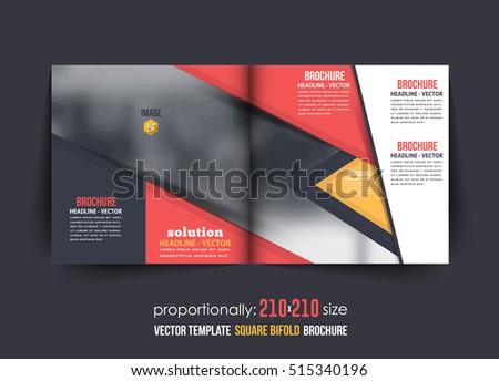 bi fold business brochure design template leaflet magazine cover
