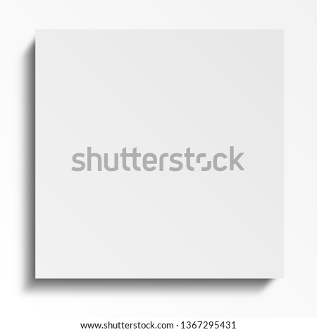 Square blank white sheets. View from above. Stationery for the office. Leaflets with glue Notepads organizer template Notes. Realistic image 3D. Isolated white background vector
