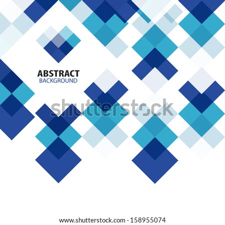 stock-vector-square-blue-geometrical-abstract-background