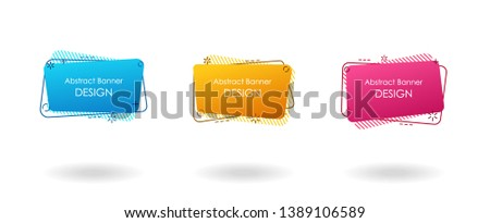 Square box abstract banner set, fluid color with gradient background, modern flyer or presentation design #1389106589