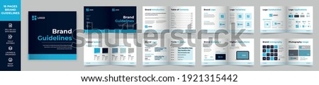 Square Brand Manual Template, Simple style and modern layout Brand Book, Brand Identity, Brand Guideline, Guide Book