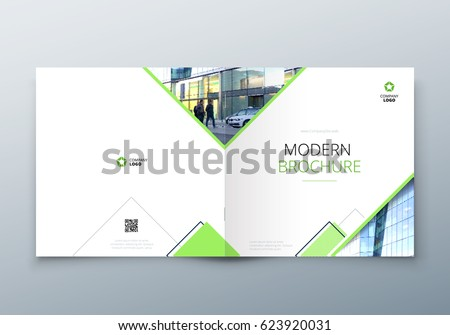 Square Brochure design for architecture, travel, real estate, fashion, hotel, property, education, eco, sport, transport. Corporate business template for rectangle brochure, report, catalog, magazine.