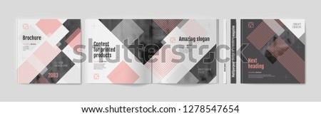 square brochure template design