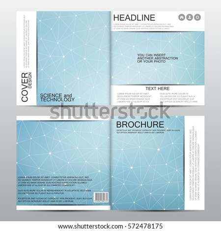 square brochure template with