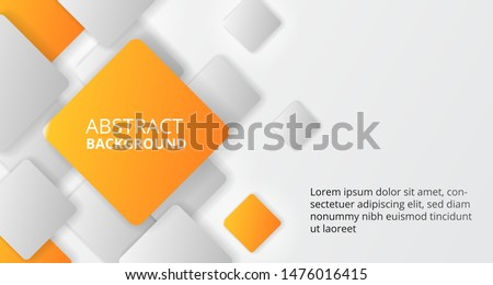 square cube orange pattern box