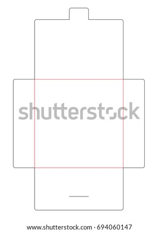 Square envelope die cut template with lock for card, invitation. Stamp. Vector black isolated circuit envelope.