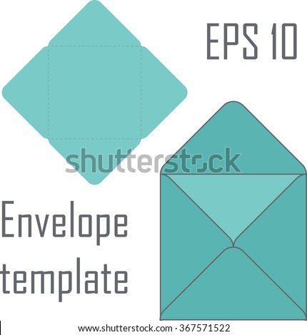 Square envelope template for cutting machine