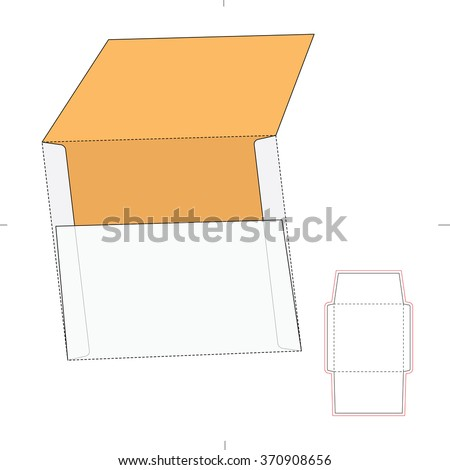 Square Envelope with Die Cut Template