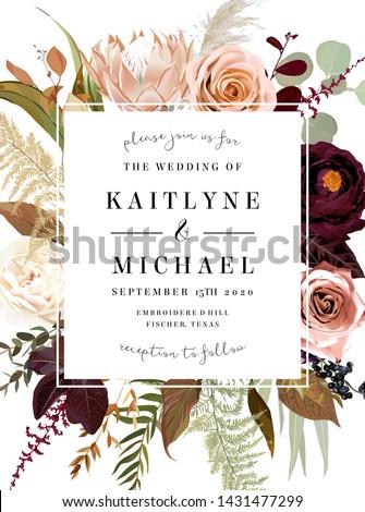 square floral label frame