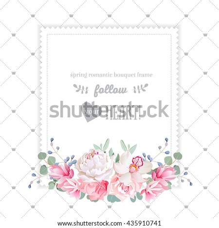 square floral vector design