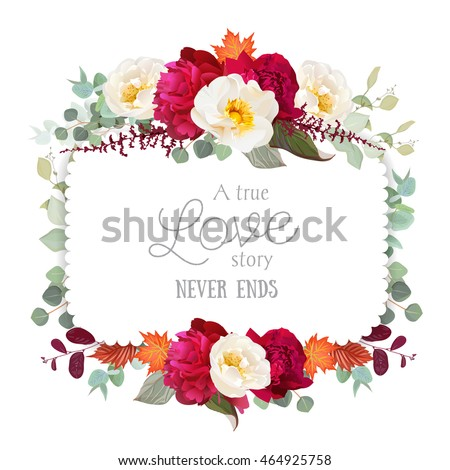 square floral vector frame with