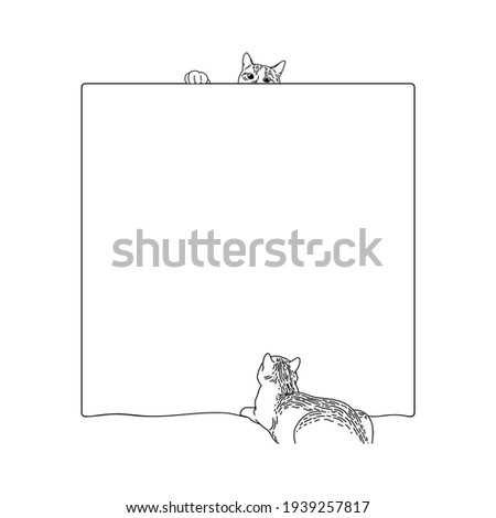 square frame with two tabby
