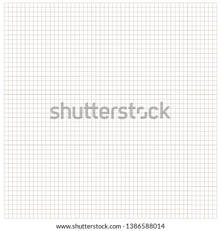 Square grid paper. Background. Vector.