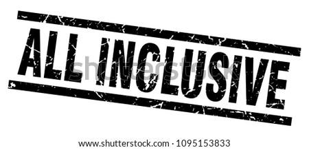 square grunge black all inclusive stamp