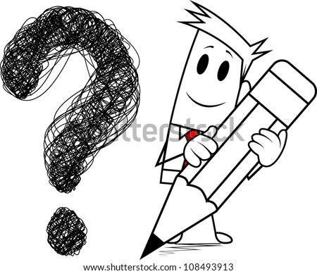 """Square guy-Drawing """"question mark"""""""