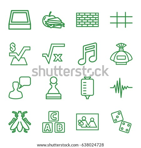 square icons set set of 16