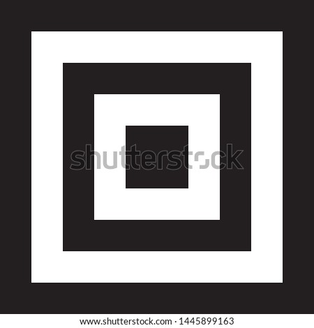 Square in square in square impression inspired strukture abstract cut art deco illustration on transparent background
