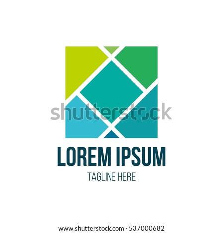 Square logo design
