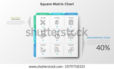 square matrix chart or table
