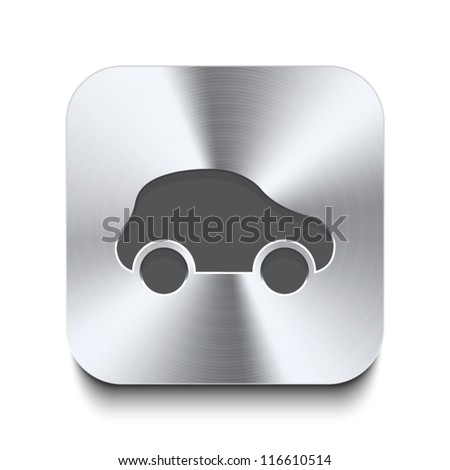 square metal button   icon of