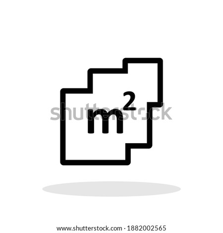Square meter icon in trendy flat style. Square meter symbol for your web site design, logo, app, UI Vector EPS 10. Photo stock ©
