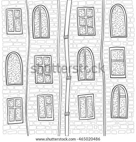 square monochrome doodle