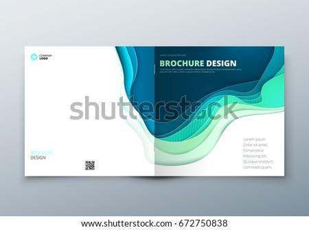 square paper cut brochure
