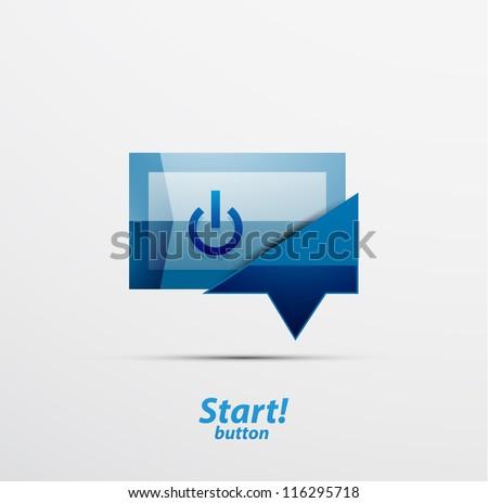 Square power button design