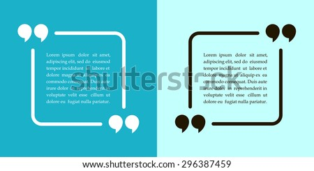 square quotation  text bubble