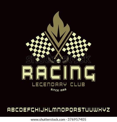 square sanserif font in racing