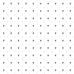 Square seamless background pattern from geometric shapes are different sizes and opacity. The pattern is evenly filled with small black dinner time symbols. Vector illustration on white background