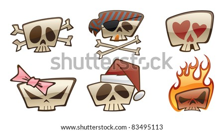 square skull cartoons two