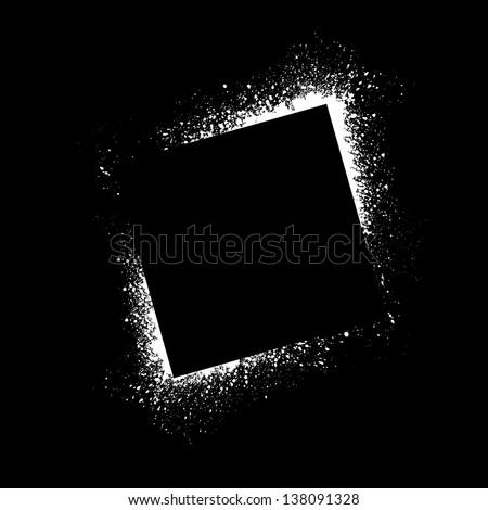 Square spray paint blots. eps10