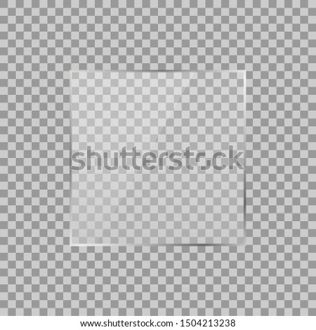 Square. Square with transparencies. White transparency. The illustration is drawn on a checkered background.