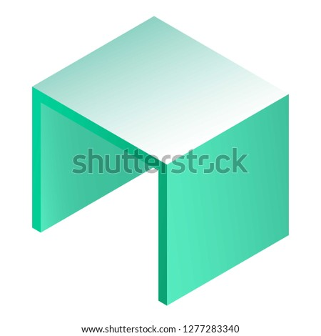 square table icon isometric of